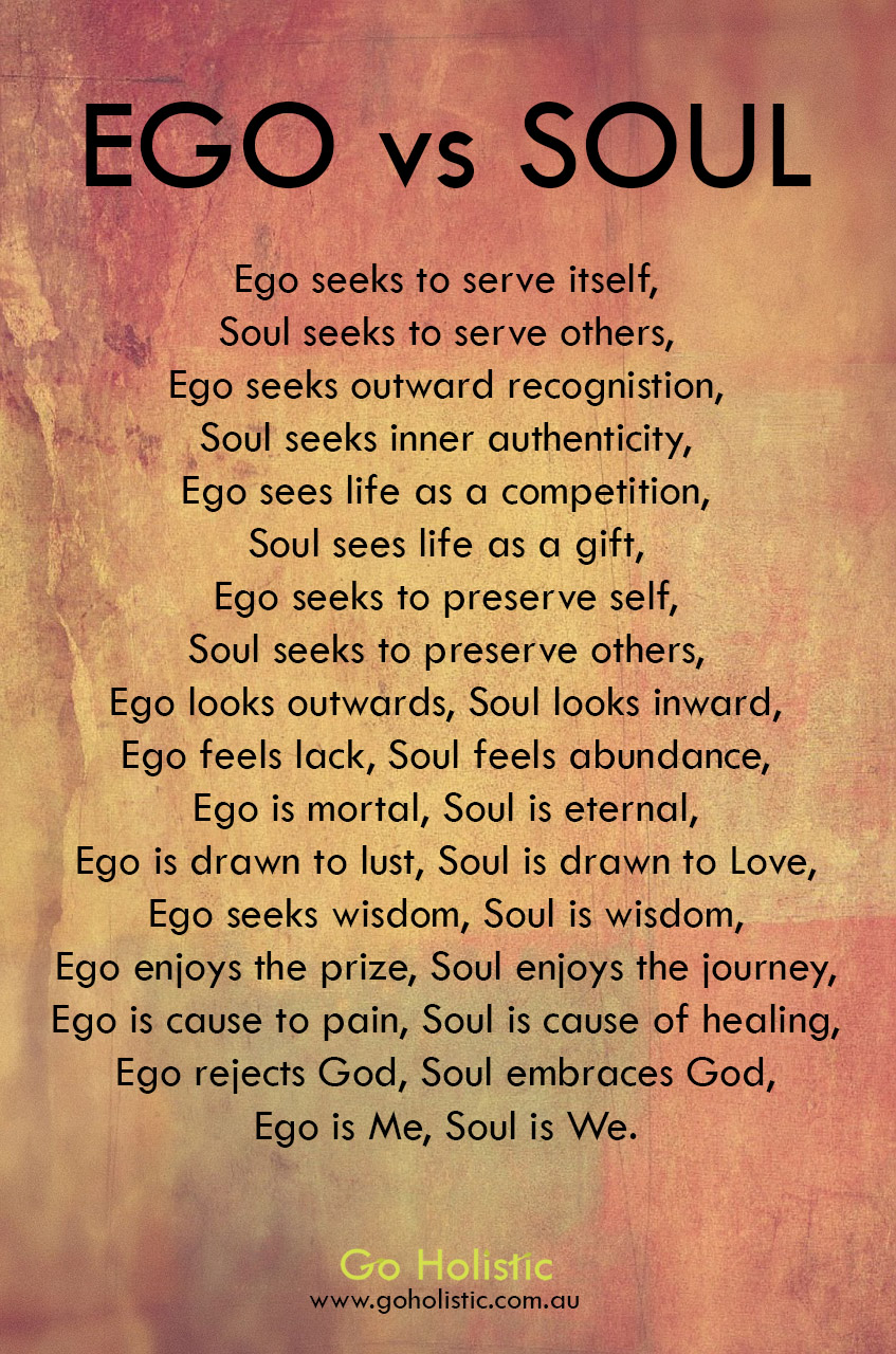 how to live without your ego