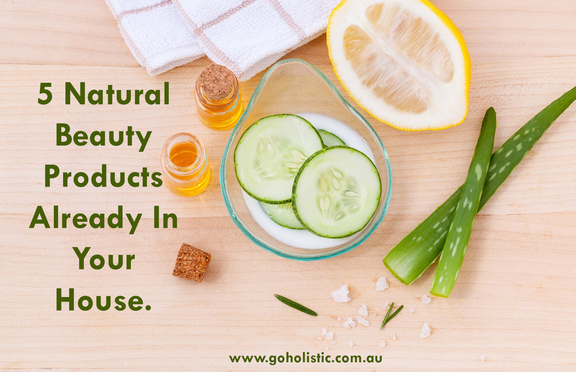 5 Natural Beauty Products Already In Your House